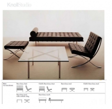 Barcelona by Ludwig Mies van der Rohe for  Knoll ® (View all from Knoll ®)